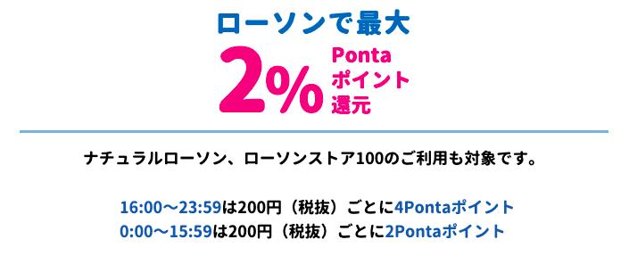 ローソン Ponta(ポンタ) プラスカードポイントシステム