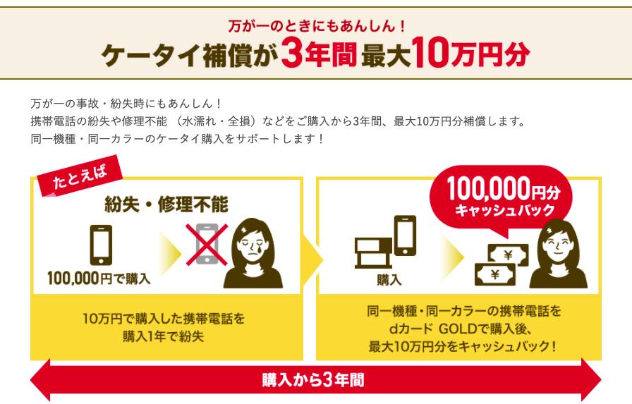 ドコモ携帯補償の説明_3年間最大10万円分