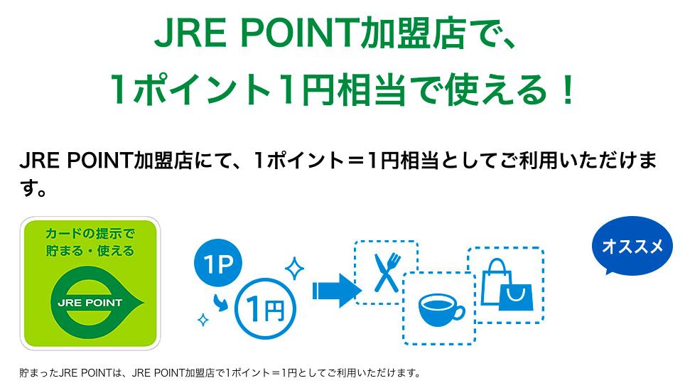 1ポイント=1円で貯まったポイントの使い道がいろいろ選べる