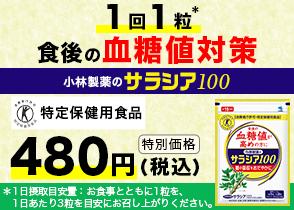 サラシア100 480円モニター(小林製薬)