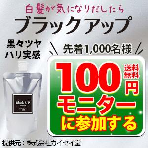 ブラックアップ 100円モニター(カイセイ堂)