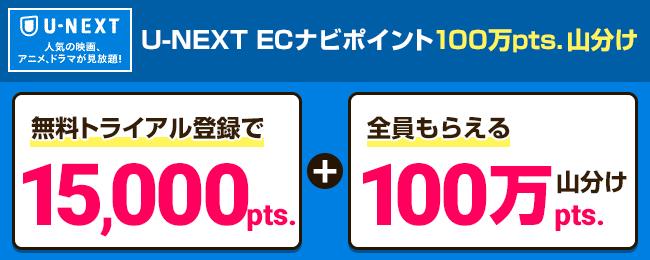 U-NEXT ポイントプレゼントお年玉キャンペーン
