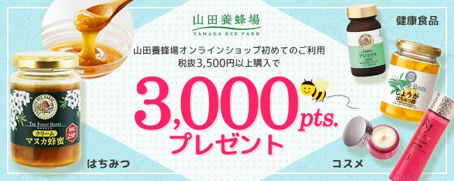 山田養蜂場 ポイントプレゼントキャンペーン
